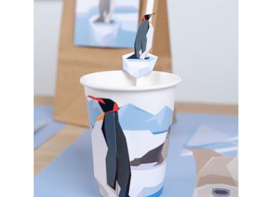 Birthdays - 6 Polar Animals Paper Straws - Recyclable - ANNIKIDS