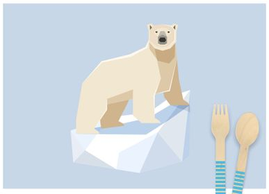 Birthdays - 6 Polar Animals Placemats - Recyclable - ANNIKIDS