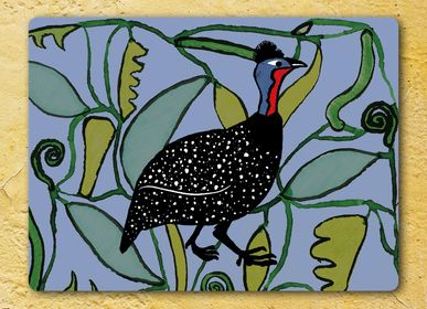 Table mat - Guineafowl Eucalyptus Tablemats and Coasters - ZOOH