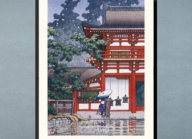Affiches - Estampe japonaise paysage Le Sanctuaire de Kasuga à Nara de Kawase Hasui prêt-à-encadrer 30x40 cm - BILLPOSTERS