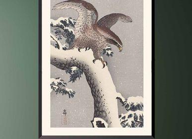 Affiches - Estampe japonaise oiseaux Aigle de Ohara Koson prêt-à-encadrer - BILLPOSTERS