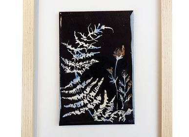 Art glass - FERN- Painting - A.D CRÉATION - ANNE DE LA FORGE