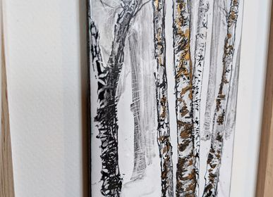 Unique pieces - BIRCH TREES 1 - A.D CRÉATION - ANNE DE LA FORGE