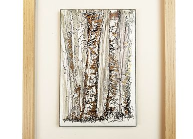 Unique pieces - BIRCH TREES 2 - A.D CRÉATION - ANNE DE LA FORGE
