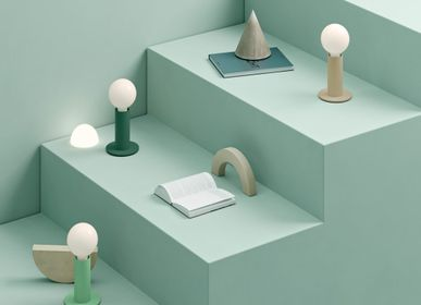 Table lamps - SOL Lamp Library Green Opaque - EDGAR
