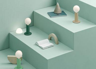 Lampes de table - SOL Lampe Bibliothèque Verte Opaque - EDGAR