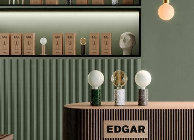 Lampes à poser - ORBIS Lampe Marbre Vert Opaque - EDGAR