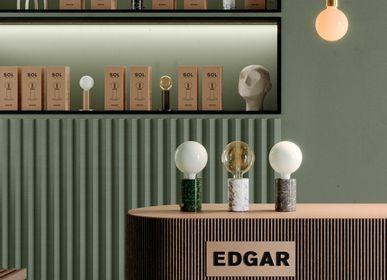 Lampes de table - ORBIS Lampe Marble Blanc - EDGAR