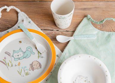 Children's mealtime - Coffret repas et bavoirs  - AMADEUS LES PETITS