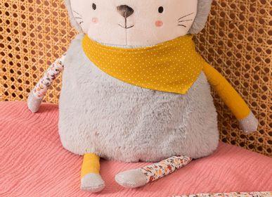 Soft toy - Peluche Léon le chaton et plaid en liberty - AMADEUS LES PETITS