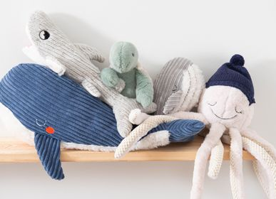 Soft toy - Peluches pieuvre Germain, tortue Lucien, baleine Edgar et baleine Adam  - AMADEUS LES PETITS