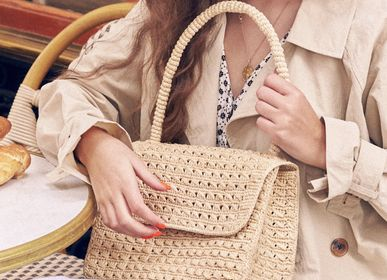 Bags and totes - Handbag FELICIE crocheted with natural raffia  - SANABAY PARIS