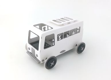 Decorative objects - Autogami White Bus  - LITOGAMI