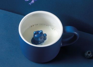 Children's mealtime - Maneki Neko / Lucky Mug dark blue  - DONKEY PRODUCTS