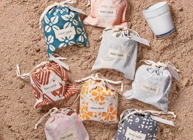 Objets de décoration - MER|SEA At Home Bougies de sac de sable en verre 7oz - MER-SEA & CO