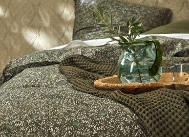 Linge de lit - Métis de lin bio Indira algue - DORAN SOU