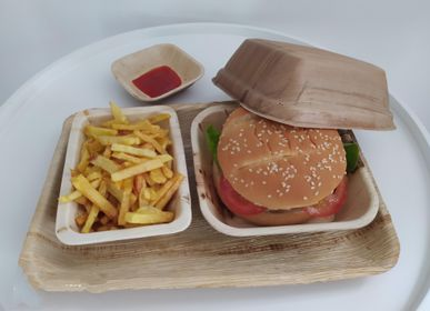 Assiettes au quotidien - Set de 4 boites à  Hamburger ( 16cm x  9cm) - ARECABIO