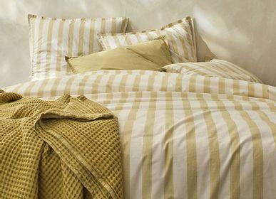 Linge de lit - Percale de coton bio Bengale sable - DORAN SOU