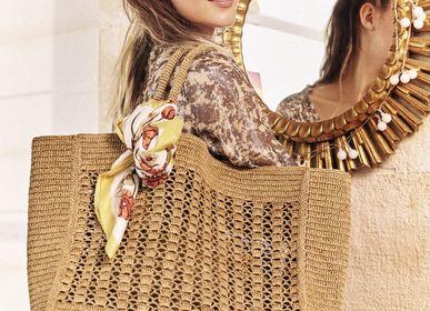 Paniers - CABAS JANE - cabas en raphia teinture naturelle - SANABAY PARIS