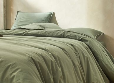 Bed linens - Organic cotton percale lagoon - DORAN SOU