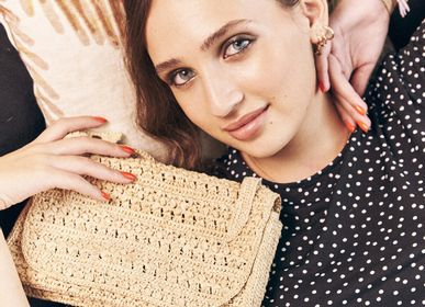 Bags and totes - Shoulder bag AVA - natural raffia crochet - SANABAY PARIS