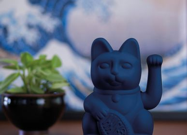 Decorative objects - Maneki Neko / Lucky Cat / Dark Blue  - DONKEY PRODUCTS