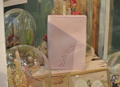 Petite maroquinerie - Etui à cartes Double en cuir Pailleté - LA CARTABLIÈRE