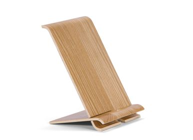 Office sets - Willow wood mobile phone/tablet stand holder 13x11x17 cm PA21001 - ANDREA HOUSE