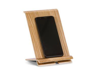 Sets de bureaux - Support pour téléphone portable/tablette en bois de saule 13x11x17 cm PA21001 - ANDREA HOUSE
