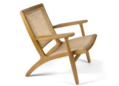 Fauteuils - Emily orme fauteuil bois 60x47x54 cm MU21020  - ANDREA HOUSE