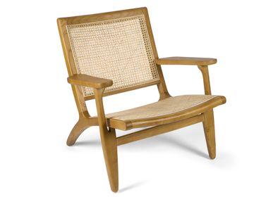 Armchairs - Emily elm wood armchair 60x47x54 cm  MU21020 - ANDREA HOUSE