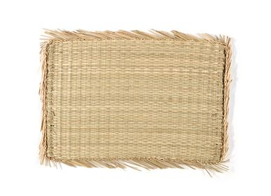 Placemats - Fringes seagrass placemat 47x32 cm  MS21095 - ANDREA HOUSE