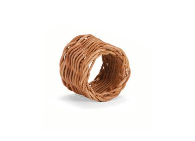 Kitchen utensils - Set of 6 rattan napkin rings Ø6x4.5 cm MS21092 - ANDREA HOUSE