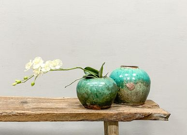 Vases - Turquoise Ginger Pot - THE SILK ROAD COLLECTION