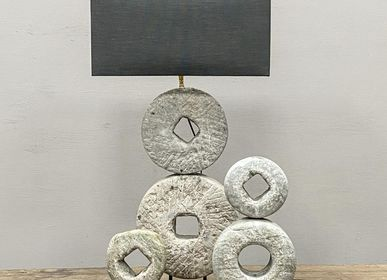 Decorative objects - Modern Mill Stone Sculpture - THE SILK ROAD COLLECTION