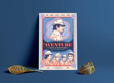 Affiches - AFFICHE L'AVENTURE C'EST L'AVENTURE - PLAKAT - DESIGNING MOVIE POSTERS -
