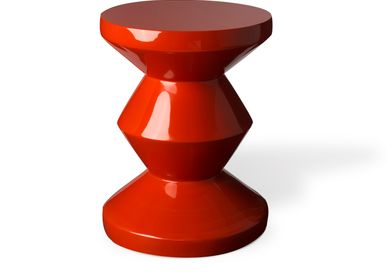 Console table - Stool Zig Zag Coral Red - POLS POTTEN