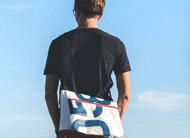 Bags and totes - Recycled Boat Sail Messenger Bag - LES TOILES DU LARGE