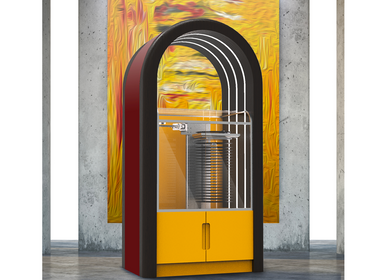 Speakers and radios - Orphéau Jukebox | Arche Series | Orange - ATELIER ORPHEAU
