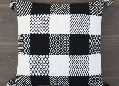 Fabric cushions - Black & White Cushion Covers  - MEEM RUGS