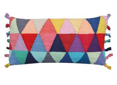 Fabric cushions - Triangle Kilim Cushion   - MEEM RUGS