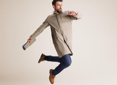 Apparel - Men's trench coat - Strato Fango - CUMULUS BY FRANCOISE PENDVILLE