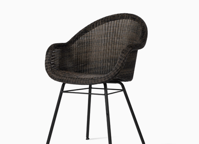 Chaises de jardin - Edgard dining chair steel base - VINCENT SHEPPARD