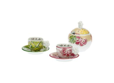 Coffee and tea - Set of 2 Happy coffee cups with sugar bowl - THUN