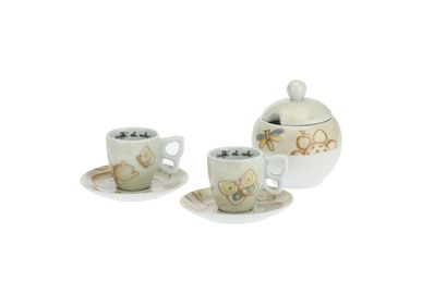 Coffee and tea - Set of 2 Elegance coffee cups with sugar bowl - THUN