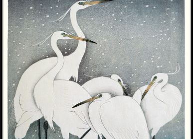 Poster - Poster. Snowy Heron. - THE DYBDAHL CO.