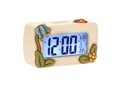 Clocks - Country digital clock with flowers and ladybird - THUN