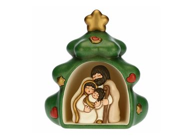 Nativity scenes and santons - Christmas tree with mini nativity scene - THUN