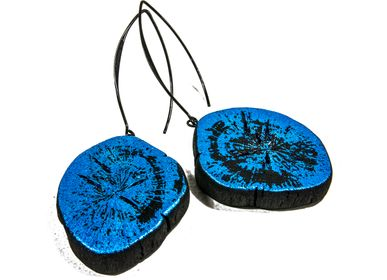 Jewelry - Earrings GIN-BLUE-MIMI-WA & GIN-BLUE-FULI - CHARCOAL ESKIMEÏT