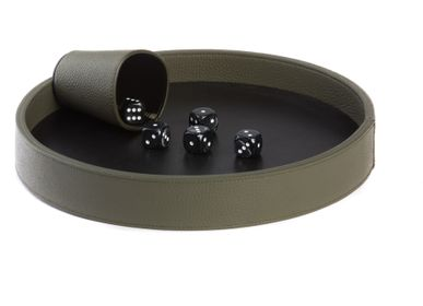 Leather goods - Dices Board I Buffalo, Alligator effect, Shagreen effect Leather - HECTOR SAXE PARIS DEPUIS 1978